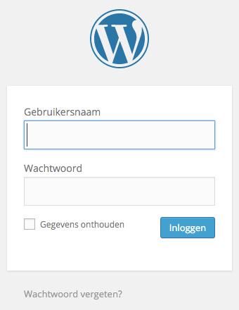 Wordpress Inloggen